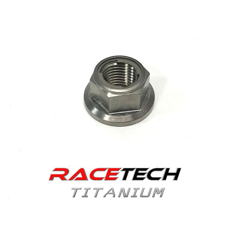 Titanium M12 x1 25 Locking Hex Head Flange Nut