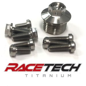 Titanium Oil Plug & Pump Bolts (2011-14 KTM 350SXF)