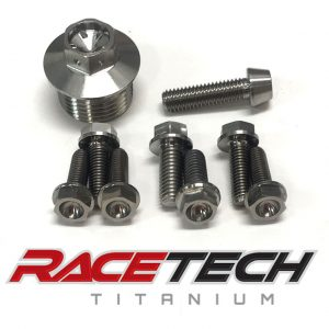 Titanium Oil Plug & Pump Bolts (2011-14 KTM 450SXF)
