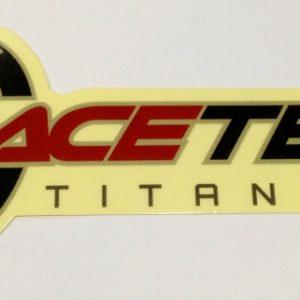 """RaceTech Titanium 7"""" Clear Sticker"""