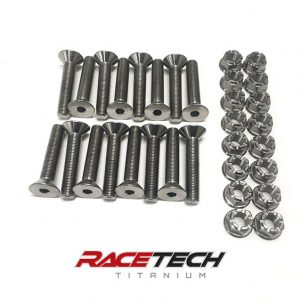 Titanium Wheel Studs and Lug Nuts for Billet Hubs