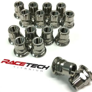 Titanium Flat Bottom Lug Nuts (Polaris RZR 900, XP 1000, Turbo)