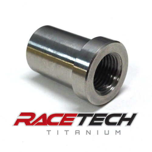 Titanium 1/2-20 RH Threaded Tube Adapter (for 3/4 tube)
