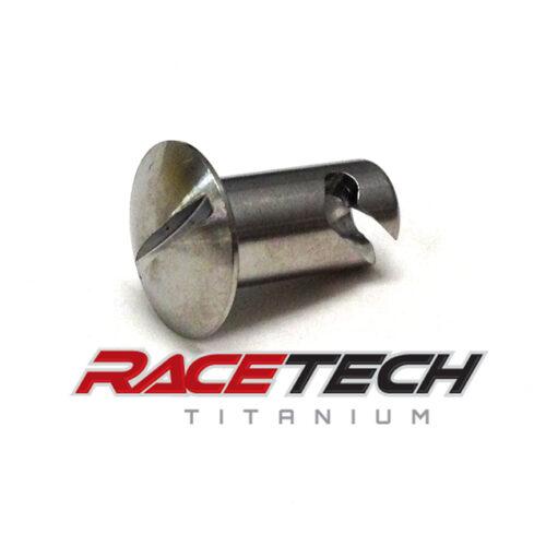 .500 Titanium Oval Head (1/4) Dzus Fastener