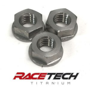 Titanium Exhaust Nuts (2014-18 Yamaha YZ 250 450)