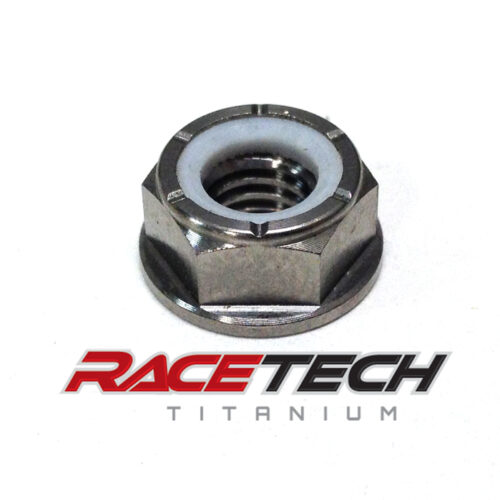 Titanium M6x1.0 Nylock Flange Nut (Locking)