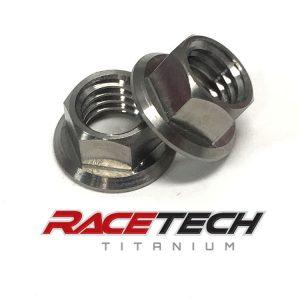 Titanium Bottom Engine Mount Nuts (2011-14 KTM 250SXF)