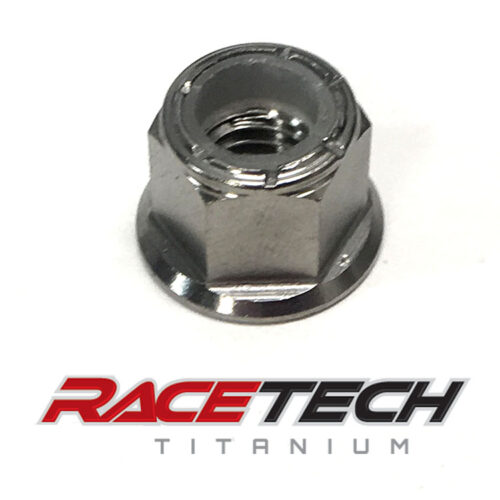 Titanium M8x1.25 Nylock Flange Nut (Locking)