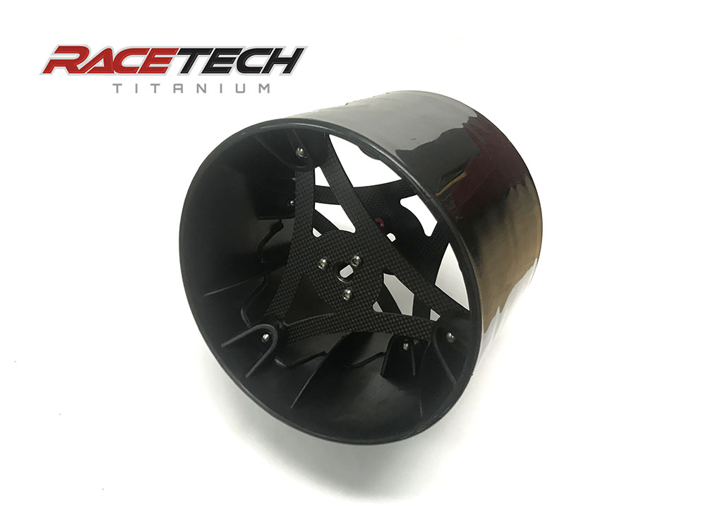 Wheelie bar wheel w/ carbon fiber & magnesium Insert