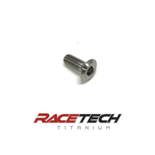 Titanium M8x1.25x20mm Flat Head Socket Cap Screw