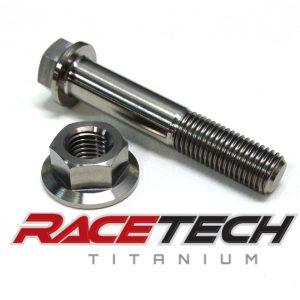 Titanium Upper Shock Bolt and Nut (2006 Suzuki RM 85)