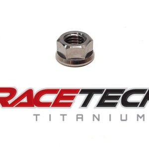Titanium 1/4-28 Flange Nut