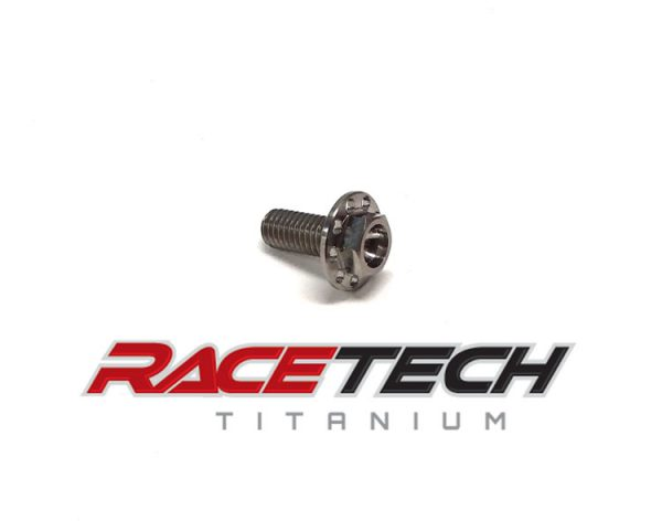 Titanium M6x15 Hex Head (Drilled) Flange Bolt