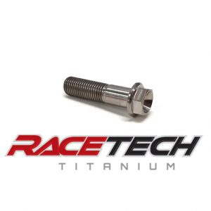 Titanium M10x1.25x40 Hex Head Flange Bolt