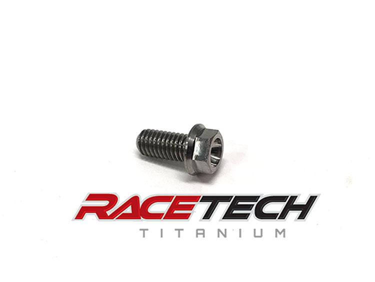 Titanium M6x13 Flanged Hex Head Bolt | RaceTech Titanium