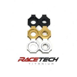 Aluminum DLC Coated Chain Adjuster Blocks (KTM 250/350/450SXF)